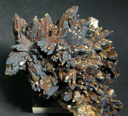 Calcite With Chalcocite & Malachite