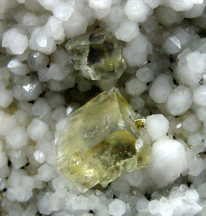 Fluorite On Milky Quartz