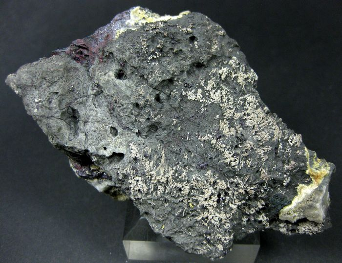Native Silver With Proustite On Native Arsenic