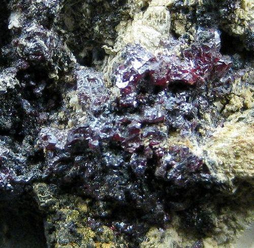 Proustite Silver Argentopyrite & Metaschoepite On Arsenic