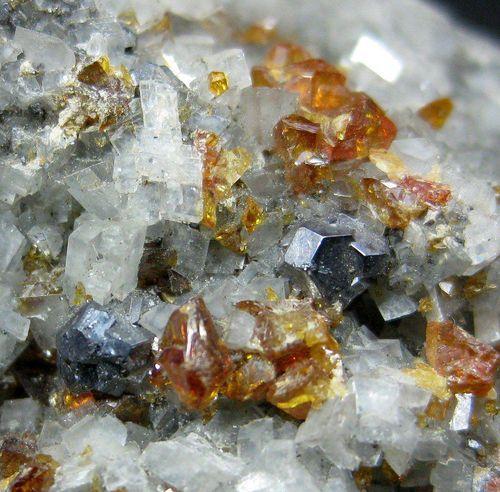 Sphalerite With Galena & Calcite