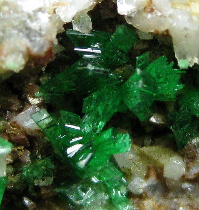 Annabergite With Conichalcite Dolomite & Calcite