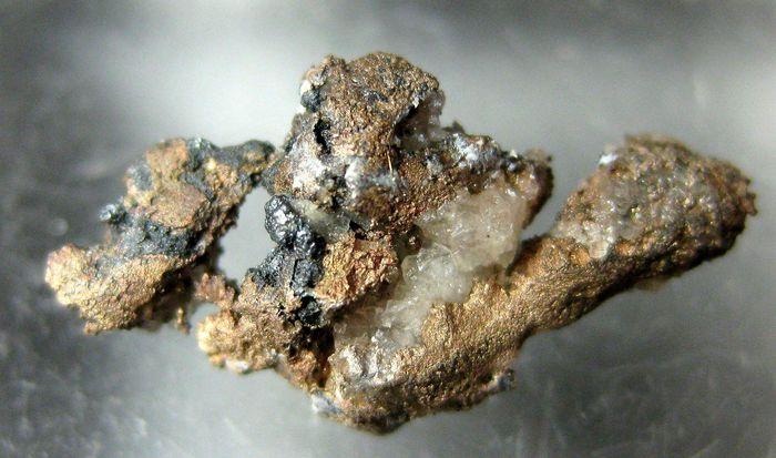 Native Silver On Baryte