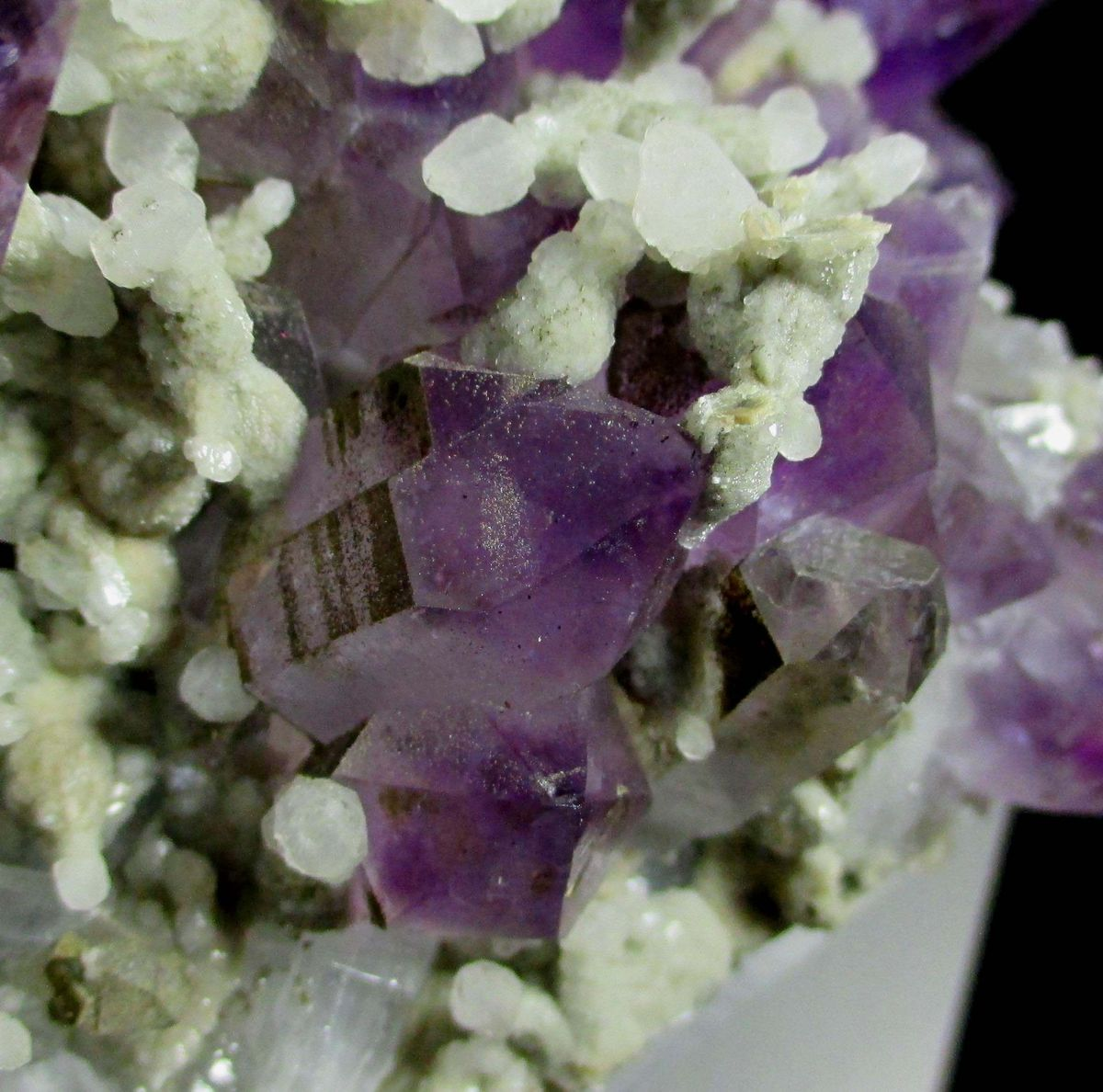 Calcite Var Sceptre Calcite On Amethyst