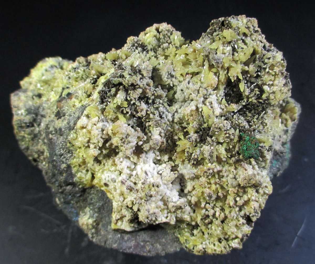 Smithsonite Mimetite Covellite & Malachite