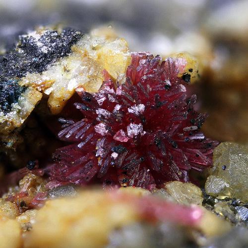 Erythrite With Calcite