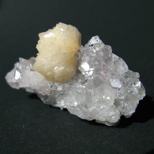 Stilbite Apophyllite & Amethyst