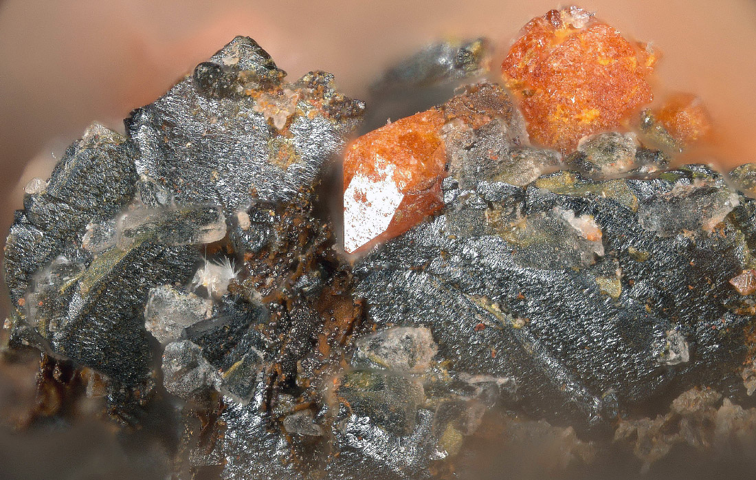 Wulfenite On Iranite