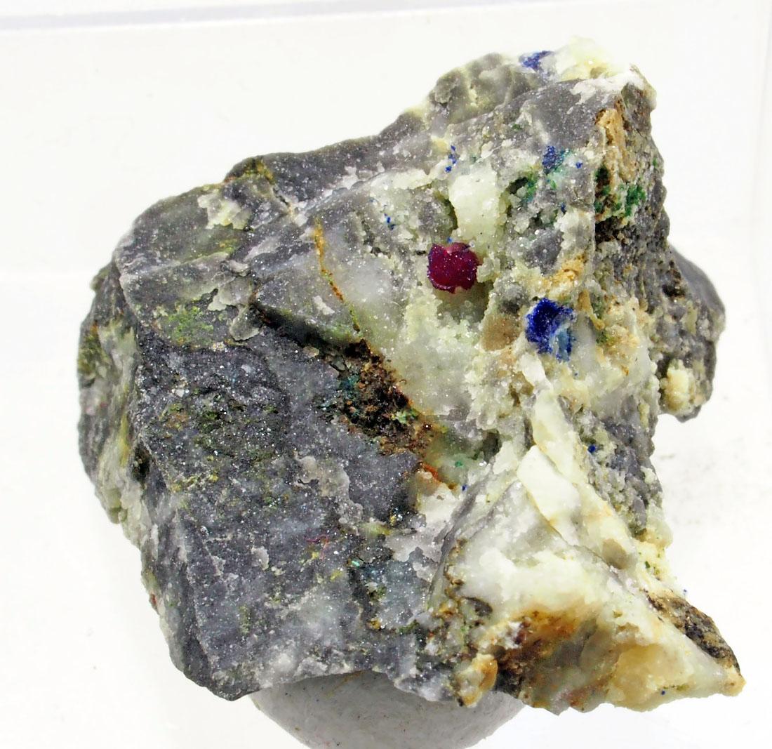 Azurite On Erythrite