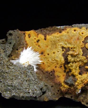 Aragonite On Ferroan Calcite