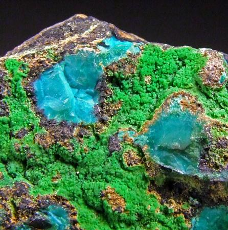 Conichalcite & Chrysocolla
