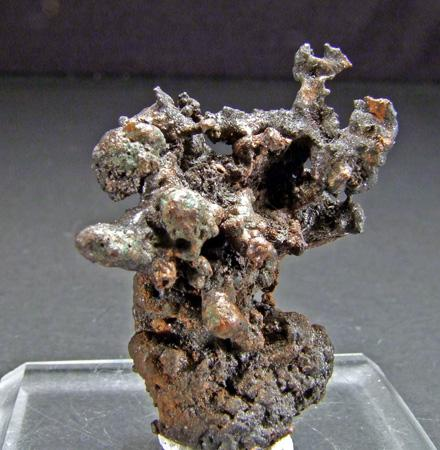 Coronadite & Embolite On Native Copper