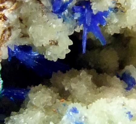 Cuprian Smithsonite Linarite & Cerussite