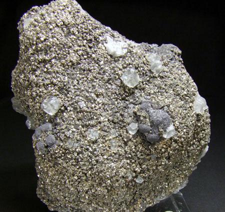 Galena Calcite & Pyrite On Sphalerite