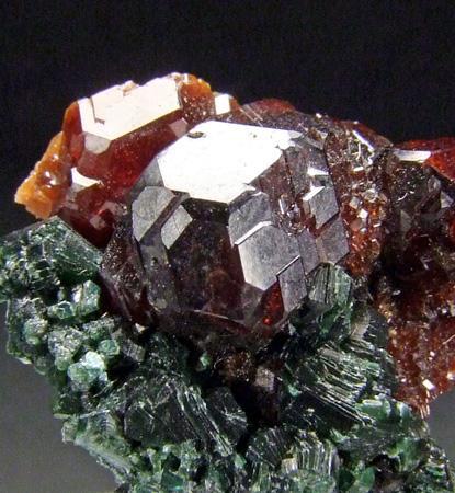 Hessonite & Chlorite