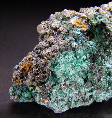 Malachite On Cerussite & Anglesite