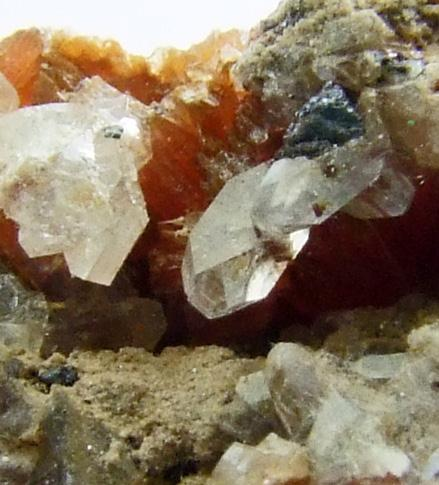 Apophyllite On Inesite