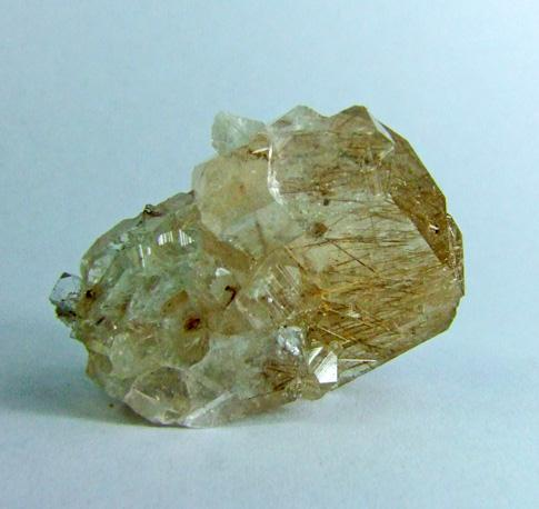 Fluorapophyllite With Bustamite Inclusions