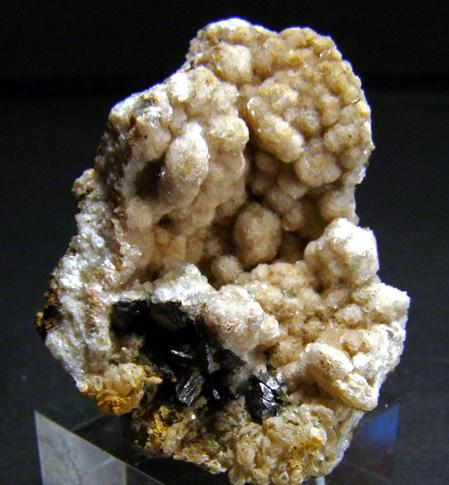 Magnetite On Rhodochrosite