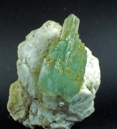 Aquamarine On Feldspar