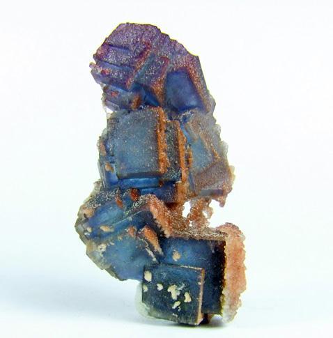 Calcite On Fluorite