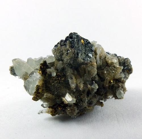 Chalcopyrite Calcite & Quartz On Chamosite