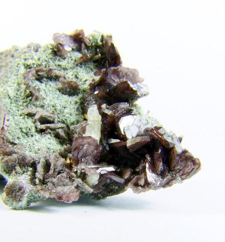 Axinite-(Fe) On Actinolite