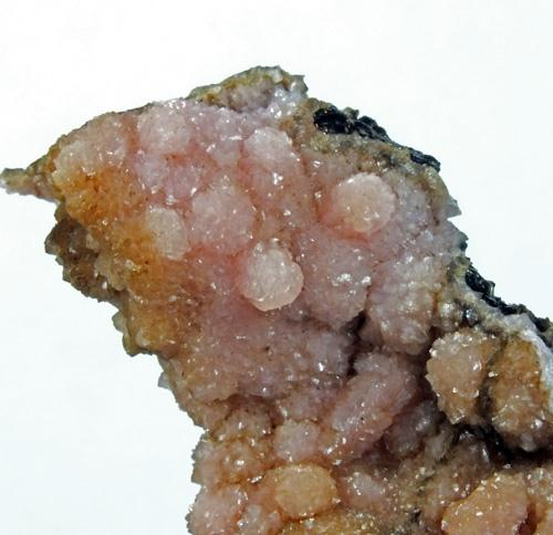 Rhodochrosite On Sturtite