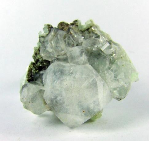 Apophyllite On Prehnite