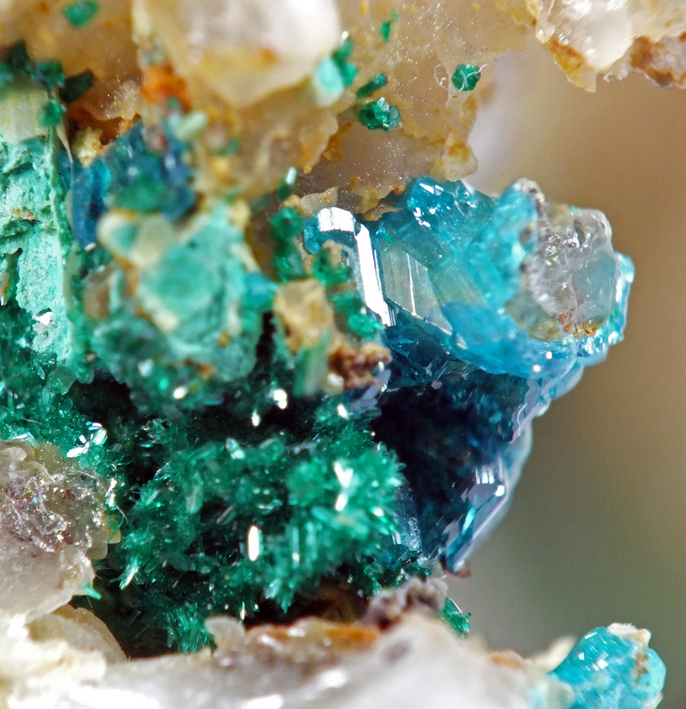 Celadonite & Brochantite