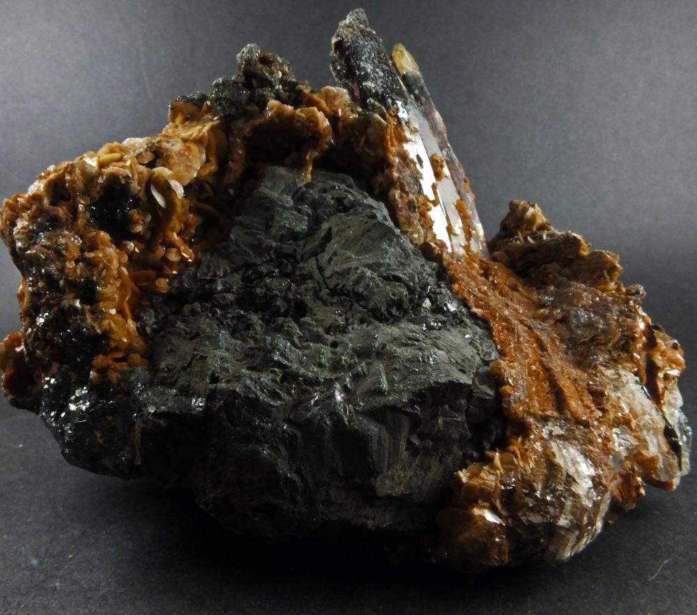 Chalcocite & Hematite In Baryte