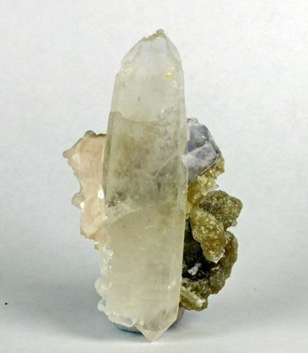 Quartz Fluorite On Dolomite