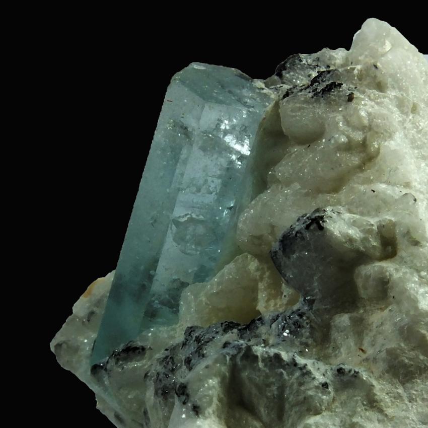 Aquamarine Schorl & Albite