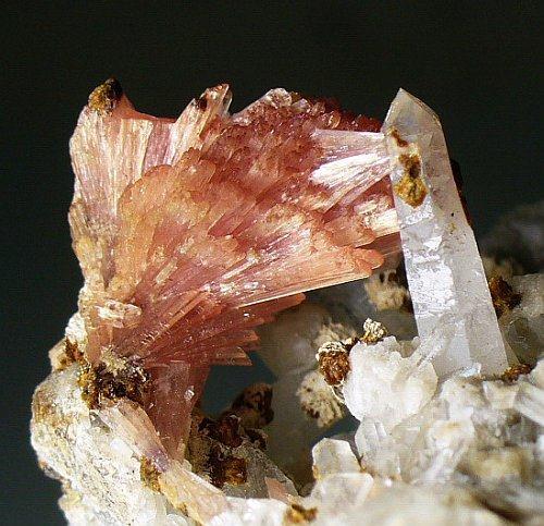 Inesite Hubeite Quartz & Calcite
