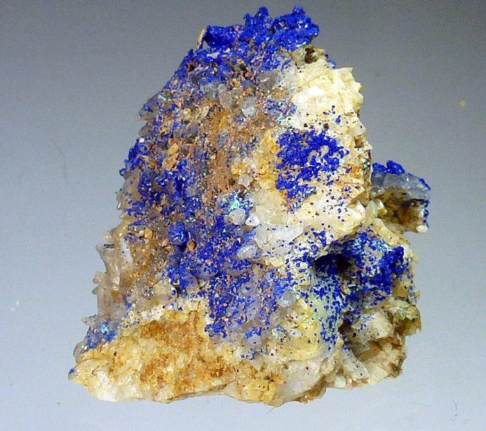 Azurite Dolomite Calcite & Malachite