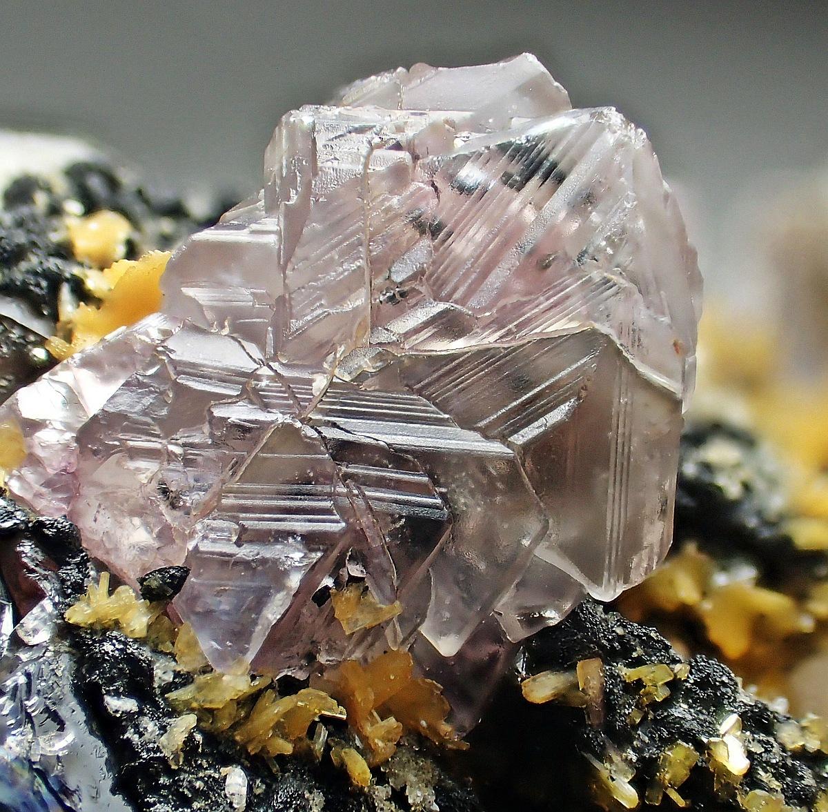 Fluorite Stilbite Quartz Microcline & Albite