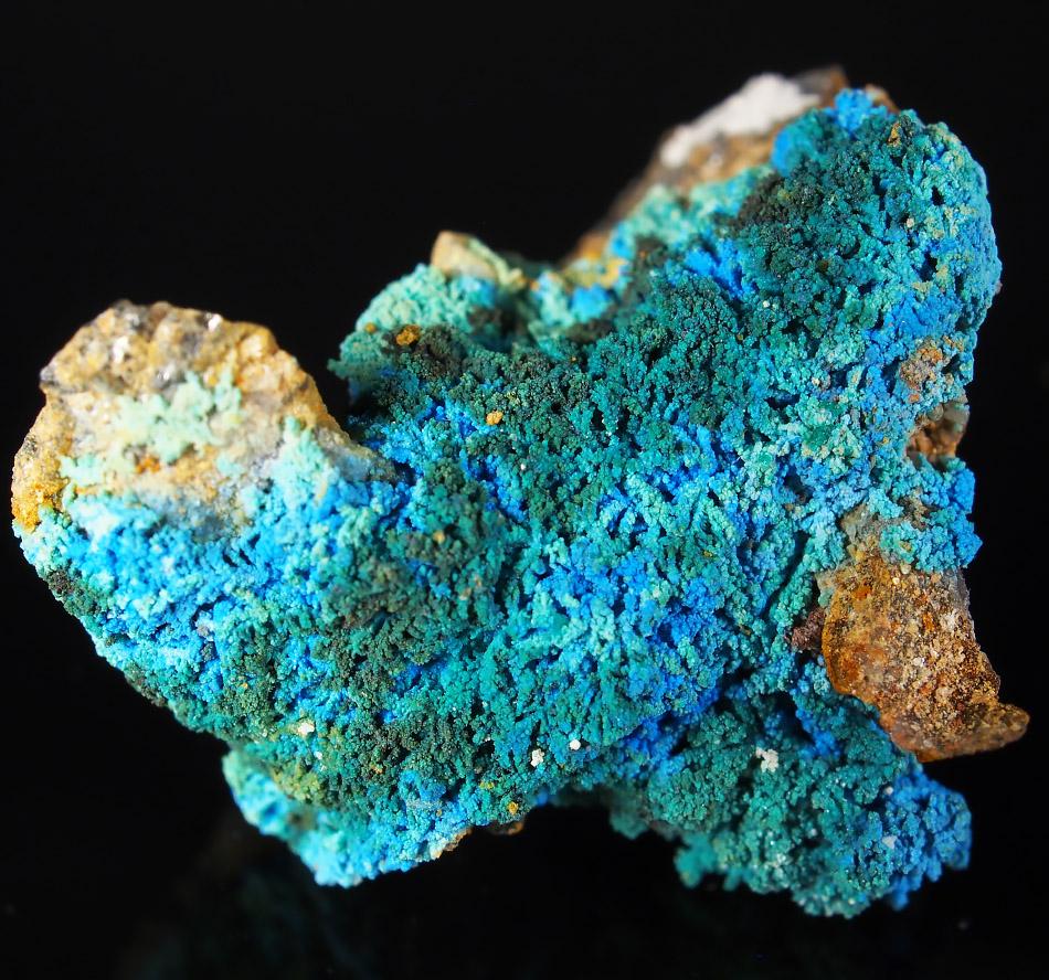 Cyanotrichite & Brochantite