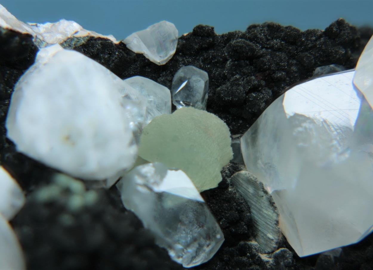 Prehnite Calcite Galena & Pumpellyite