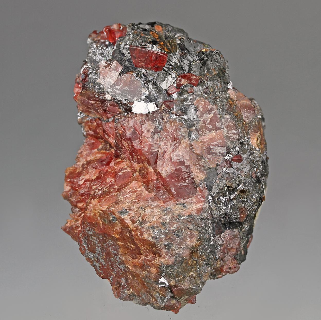 Rhodonite & Galena