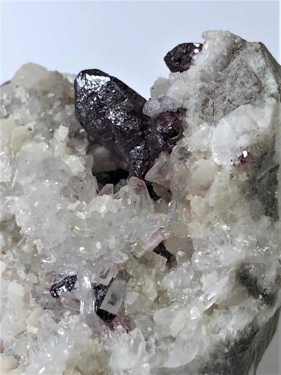 Cinnabar With Quartz & Dolomite
