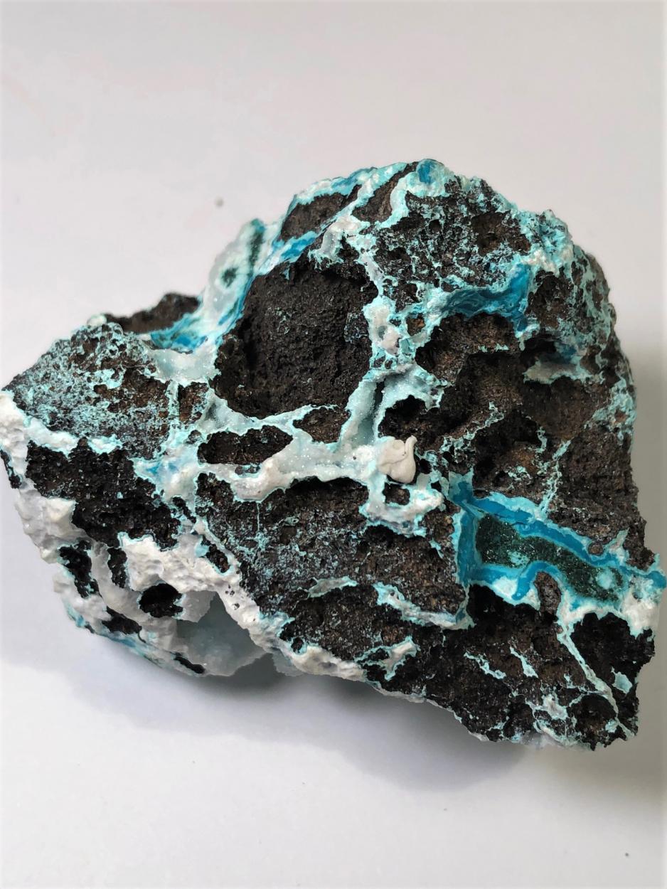 Chrysocolla With Quartz & Malachite