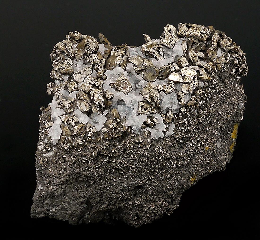 Native Bismuth On Quartz
