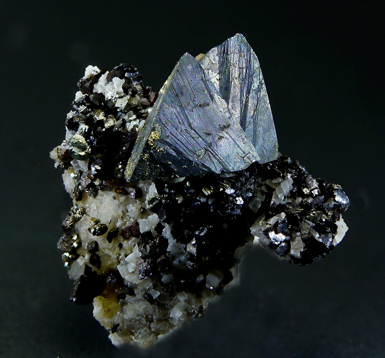 Tetrahedrite On Siderite