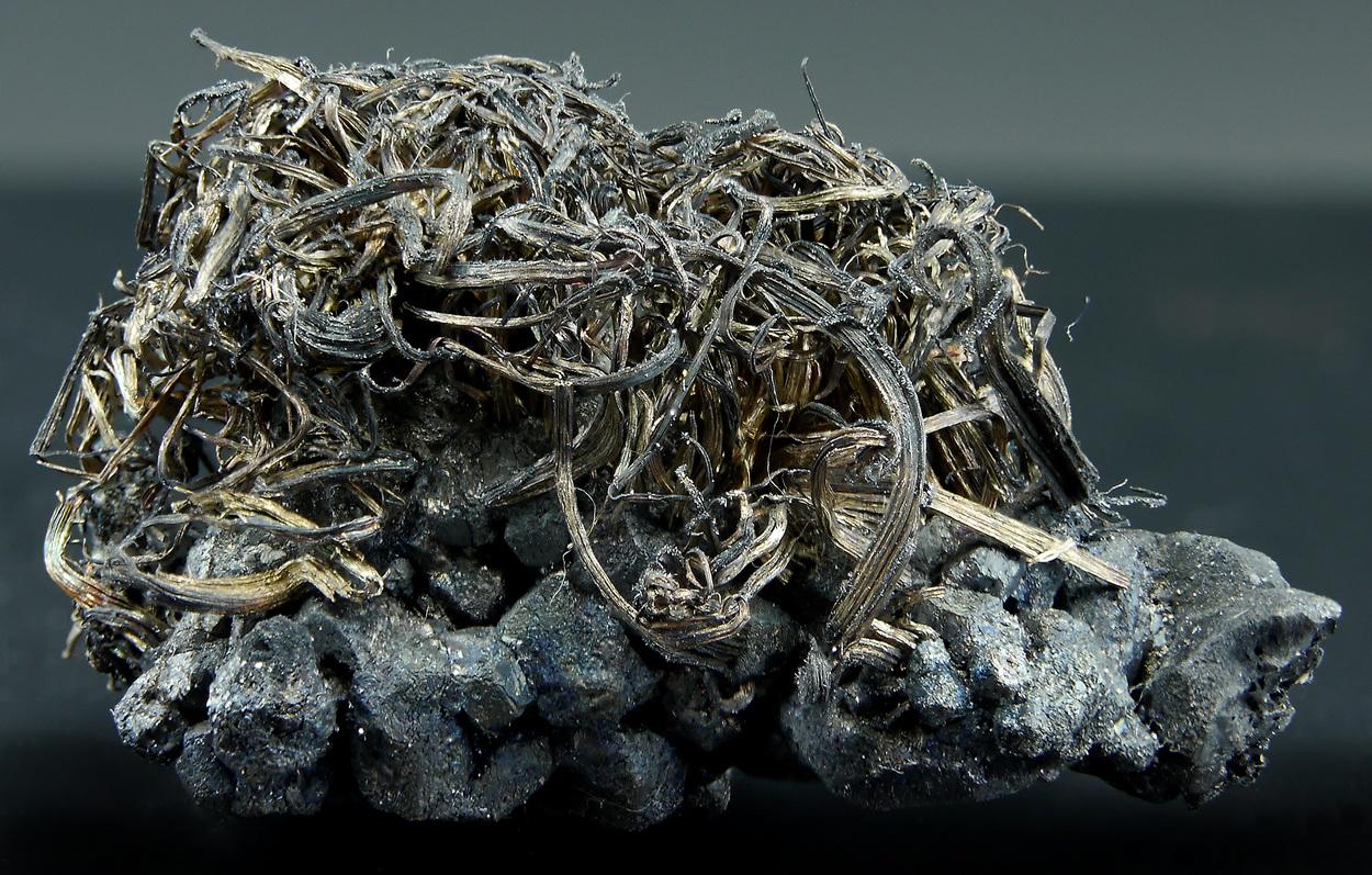 Native Silver On Argentite