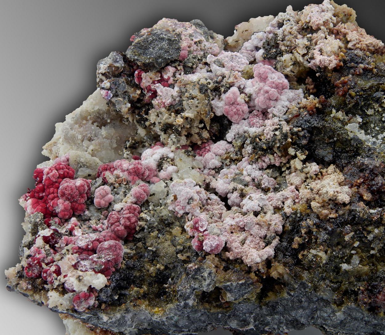Erythrite On Quartz