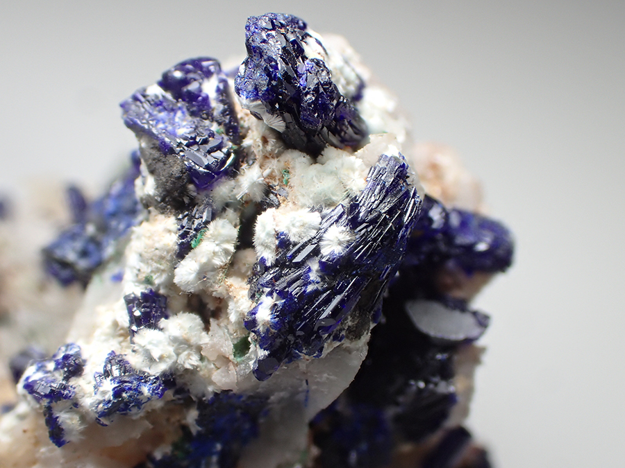 Dundasite & Azurite & Cerussite