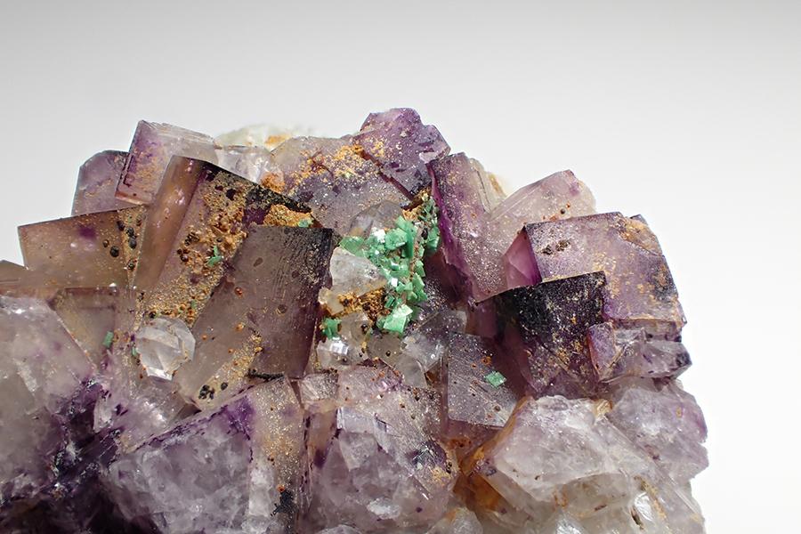 Zeunerite & Fluorite
