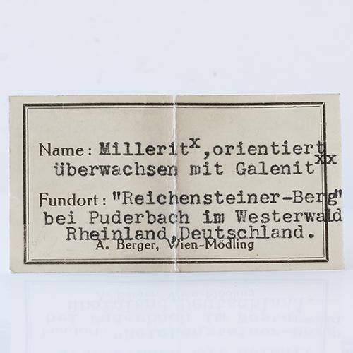 Millerite & Galena