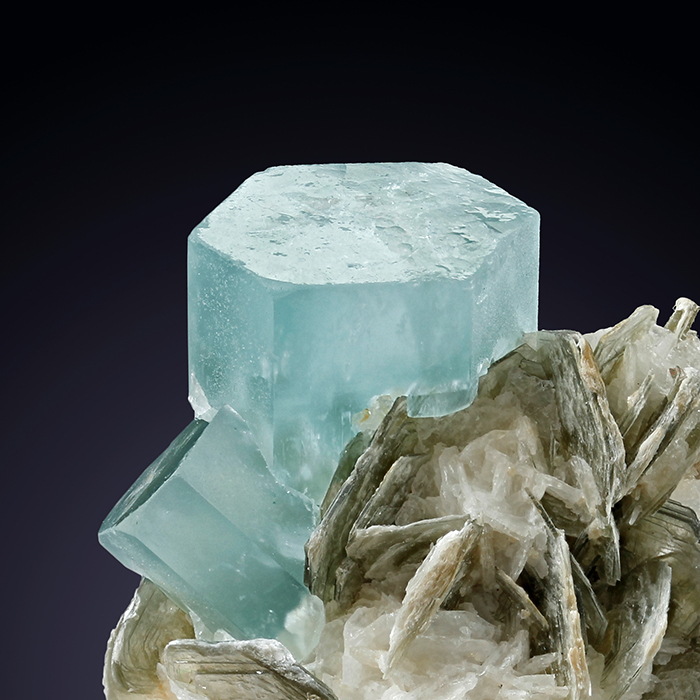 Aquamarine & Muscovite