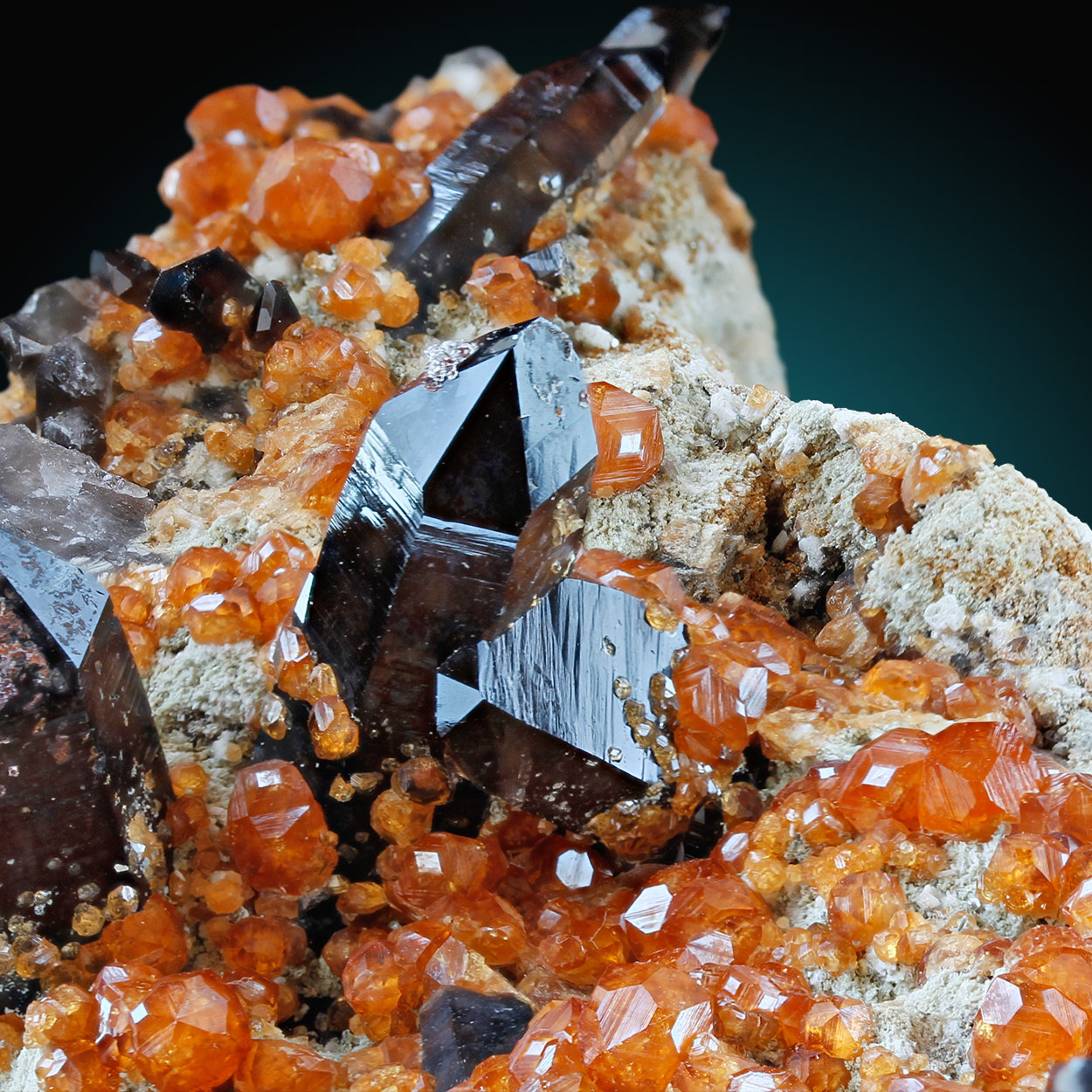 Smoky Quartz & Spessartine